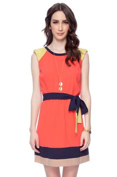 Block Party Fit Dress in Coral $52 at www.tobi.com