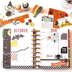 mdastudio: OMG I am so swamped and I totally forgot to share these pics I promised of my #Halloween themed #happyplanner and boy its just so adorable love it so much makes my heart so happy.