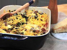 Pastagratäng med pancetta och svamp   Recept.nu