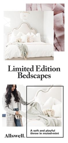 Cozy, comfy and everything in-between. Limited edition bedscapes for any occasion! Dream Bedroom, Home Bedroom, Girls Bedroom, Master Bedroom, Bedroom Decor, Bedrooms, Home Garden Design, Bedroom Inspo, Bedroom Ideas