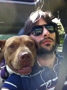 We like hot guys. We like dogs. We like hot guys with dogs. Robert Schwartzman, American Bulldog Mix, Chicken Treats, Dog Whisperer, Golden Retriever Mix, Man And Dog, Handsome Boys, Hot Guys, Pitbulls