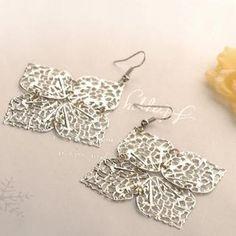Leaves Earrings  Silver - One Size