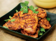 Try having the chicken with some raita, a simple salad, with this dish!