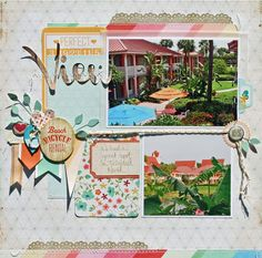 """...View"" travel/Disney scrapbook LO by Susan Stringfellow. Loving that title; her Disney pages are so lovely."