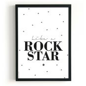 THE BIRDS AND THE BEES poster Rock Star XL http://www.livvlifestyle.nl/The-birds-and-the-bees/The-birds-and-the-bees-zwart-wit-poster-like-a-rock-star