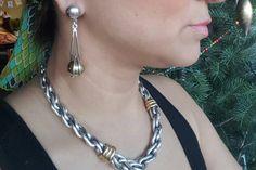 Vintage Taxco Gold Sphere Sterling Earrings Long Drop by june2six