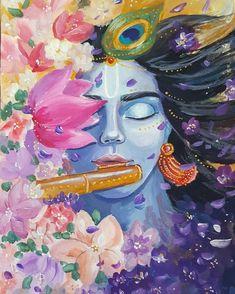 the lovable god – Tarot & More - Krishna Krishna Drawing, Krishna Painting, Arte Krishna, Indian Art Paintings, Abstract Paintings, Oil Paintings, Abstract Oil, Landscape Paintings, Lord Krishna Hd Wallpaper