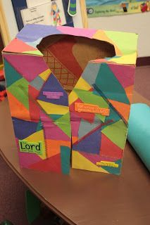 Coat of many colors made out of a large paper bag. Hands On Bible Teacher: Joseph and His Colorful Coat