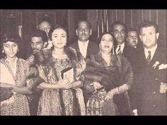صوره من الخمسينات تجمع السيده أم كلثوم والسيده فيروز ونجاح سلام في لبنان بعد حفله للست