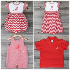 Roll Tide! Show your Alabama Sprit with our Collegiate Collection available now through Monday May 19th, 2014 at www.smockedauctions!