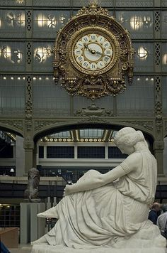 Musee d'Orsay  This is my favorite art museum!!! They have an amazing impressionist collection. It used to be a train station. You can look through the giant clock face and see the Seine and Louvre below.