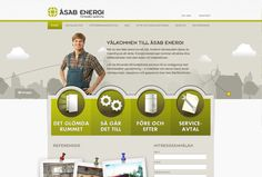 Web design for ÅSAB. I wanted to make a page that had solid navigation and a playful design. By Dejan Mauzer / dinwebb.nu