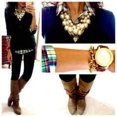 Cute casual with a bit of glam fall outfit!