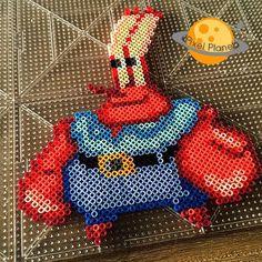 Mr. Krabs (SpongeBob) perler beads by pixel_planet_