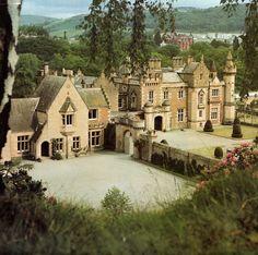 Abbotsford -- the home of Sir Walter Scott in Melrose, Scotland. Roxburgshire moorland