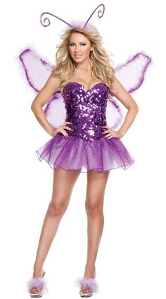 High Quality SIGNATURE Butterfly Halloween Costume lady X-Large