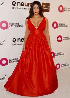 Kim  Kardashian: 2014 Elton John AIDS Foundation Academy Awards Party