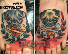Pug tattoo, MY pug tattoos lol, got them done for my birthday! How cool is it they made it on to Pinterest? Lol imagine my surprise!