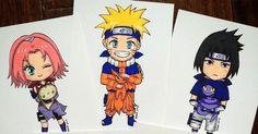 I Drew Main Characters Of The Anime Series Naruto | Bored Panda