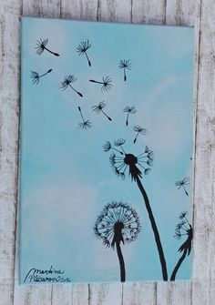 PAMPELIŠKA ... Dandelion (20x30cm).  My new picture, I inspirated of dndelion…