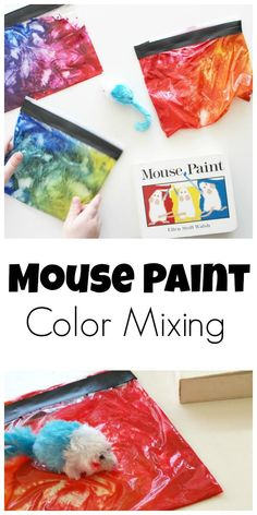 Mouse Paint color mixing activity!