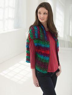 Three Easy Pieces Wrap: FREE easy level crochet pattern