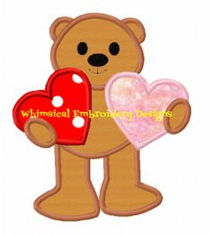 Bear with Two Hearts
