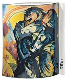 """Porzellanvase """"Turm der blauen Pferde"""" (1913), Motiv von Franz Marc - Hannover - Porzellanmalerei › Kunstplaza"""