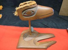 $99 · REDUCED Native carved raven with moveable beak on stand - Diggit Victoria Raven, Nativity, Christmas Gifts, Carving, Victoria, Holiday Gifts, Ravens, Christmas Presents, Wood Carvings