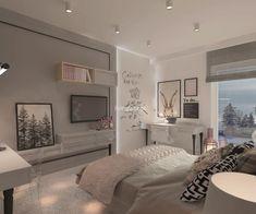 Pokoje dziecięce i młodzieżowe - Living Box Teen Bedroom Designs, Room Design Bedroom, Bedroom Wall Colors, Room Ideas Bedroom, Small Room Bedroom, Home Bedroom, Bedroom Decor, Luxury Kids Bedroom, Pinterest Room Decor