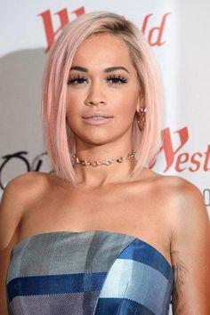 Rita Ora with pink hair