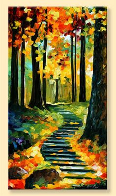 Stairway In The Old Park  Limited Edition by AfremovArtStudio