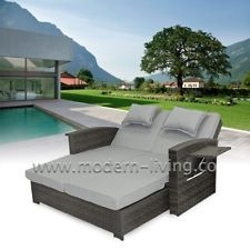 Superb Napoli Rattan Daybed Outdoor Sun Lounger Sunbed Garden Furniture Rrp £899