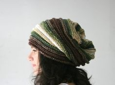 Ma I like this pattern as a hat. Like the purple scarf.  Hey, I found this really awesome Etsy listing at https://www.etsy.com/listing/168687797/striped-slouchy-knit-hat-in-green-and