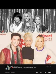 The gang . . . Hannah Montana