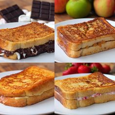 French Toast - Cheese and Ham, S'mores, Strawberry Cheesecake & Apple Pie