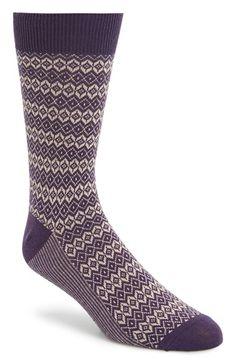 Topman Diamond Pattern Socks available at #Nordstrom