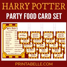 Harry Potter Printable Party Food Cards