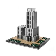 Łukasz Libuszewski modeled Unity Tower, the soon to be headquarters of the Main Technical Organization in Krakow. The model uses two different colored gri