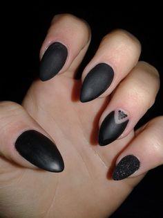 Black nails matte