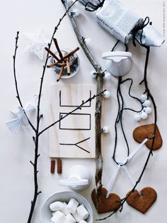 nordic christmas decor, a lesson in simple style - Annette Joseph Nordic Christmas, Christmas Mood, Noel Christmas, Christmas Fashion, Rustic Christmas, All Things Christmas, Christmas Branches, Christmas Countdown, Christmas Interiors