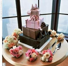 A little too much going on for me, but definitely one of the more interesting wedding cakes I've seen