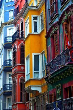 Balconies, Istanbul, Turkey