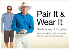 Coolibar men's suggested outfit ideas all upf 50+