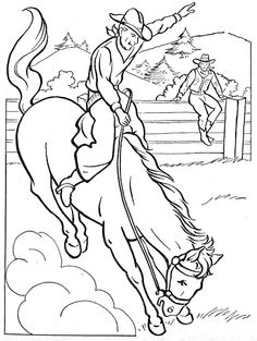 Cowboy Coloring Pages | Preschool activities | Pinterest | Cowboy ...