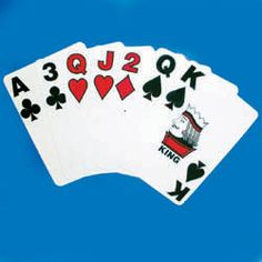 CAN-DO Bold Numbers Cards 2 Decks  Poker size playing cards with bold numbers measure .625 inches high. Both the symbols and numbers are also wider than what is usual on standard and low vision cards. The red numbers and suits are outlined in black to increase the contrast with the white background. Plastic coated cards.