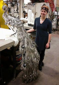 "Metal Peacock by Reddit user ""Liddlenomnom"""
