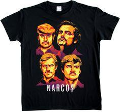 Free Shipping Summer Fashion Narco Pablo Escobar El Patron Plata O Plomo Netflix Quote T-shirt Tee Summer Men Clothing Attractive Appearance Tops & Tees