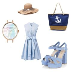 """Sunny Blue"" by saltcat on Polyvore featuring ファッション と Chicwish"