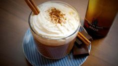 Milagro Tequila Hot Toddy -  Milagro Anejo, Agave Nectar, Cloves, Cinnamon Stick, Anise Star, Boiling Water, Lemon Wheel, Whipped Cream. #Cocktails #Drinks #HotToddy
